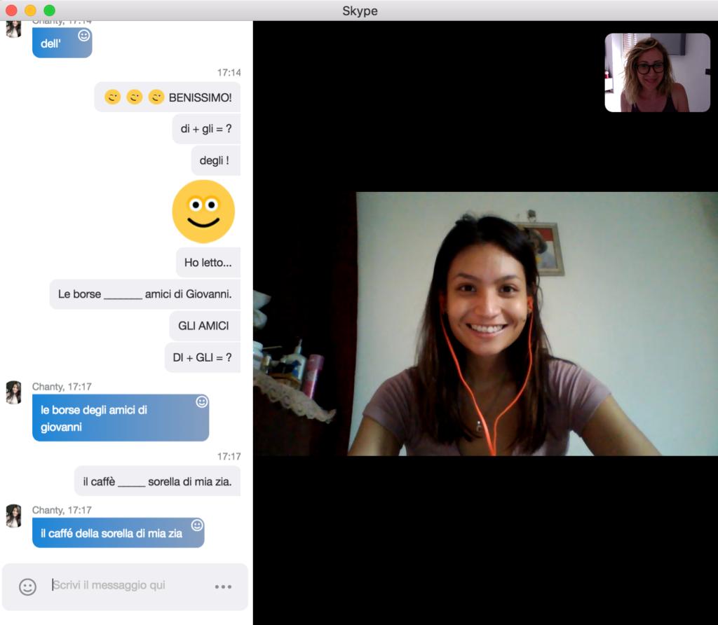 studia italiano su skype